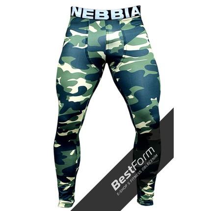 Férfi - NEBBIA Terepmintás Férfi Leggings AW 115 - Zöld