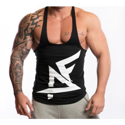Férfi - AESTHETIC FITNESS - Gyúrós trikó (fekete-fehér)