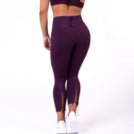 Női kollekció - NEBBIA - 7/8 Fűzős leggings 661 (burgundy)