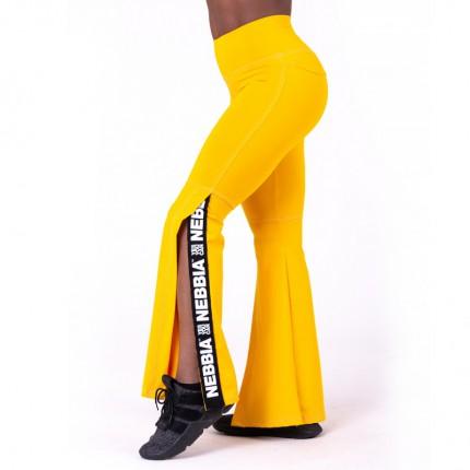 Női kollekció - NEBBIA - Felsliccelt trapéz leggings 667 (sárga)