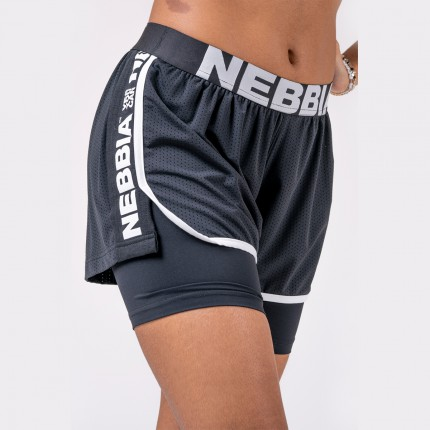 Női - NEBBIA - Női rövidnadrág DOUBLE LAYER 527 (black)