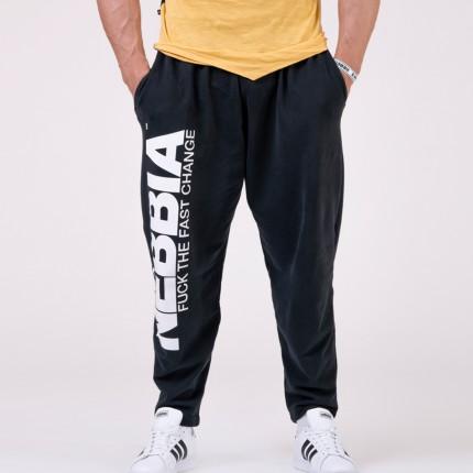 Férfi - NEBBIA - Férfi melegítő nadrág 186 (black)