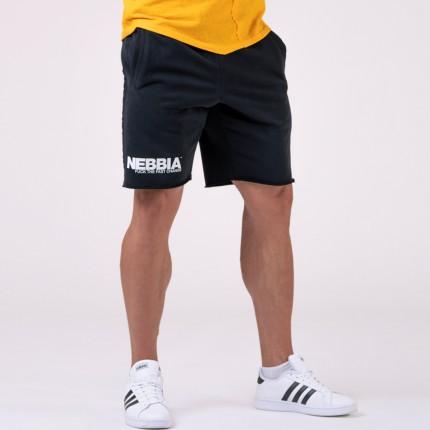 Férfi - NEBBIA - Férfi edző rövidnadrág 179 (black)