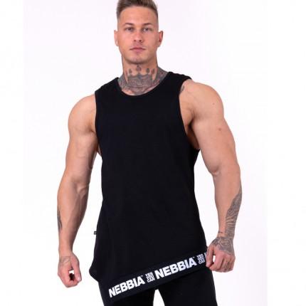 Férfi - NEBBIA - Asszimmetrikus férfi trikó 141 (black)