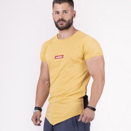 Férfi - NEBBIA - Férfi póló RED LABEL 142 (mustard)