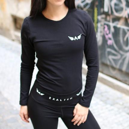 Női - Exalted - Hosszú ujjú női felső X1 (Fekete)