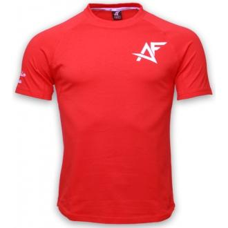 AESTHETIC FITNESS - Szűkített fazonú férfi póló (piros)
