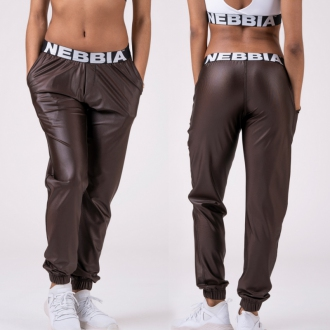 NEBBIA - Női ülepes nadrág DROP CROTCH 529 (brown)