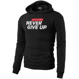 MOTIVATED - Férfi sportos pulóver NEVER GIVE UP 324
