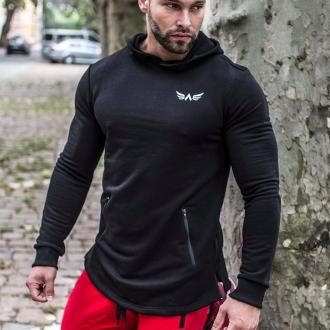 Exalted - Férfi sportos pulóver X1 (Fekete)