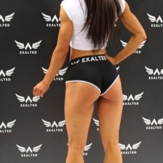 Exalted - Női fitness short X101 (Fekete)