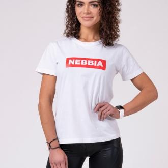 NEBBIA - Női póló BASIC 592 (white)