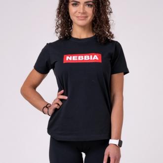 NEBBIA - Női póló BASIC 592 (black)