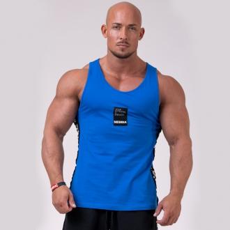 NEBBIA - Férfi fitness trikó 174 (blue)