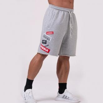 NEBBIA - Férfi edző rövidnadrág BOYS 178 (grey)
