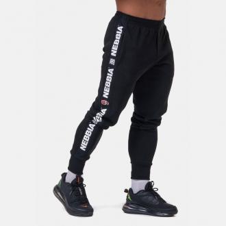 NEBBIA - Férfi fitness nadrág GOLDEN Era 196 (black)